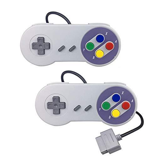 2-Pack Replacement SNES Controller Super Nintendo Controllers, Game Controller Gamepad for SNES Original Super Nintendo Entertainment System