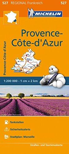 Michelin Provence Cote d'Azur: Straßen- und Tourismuskarte 1:200.000 (MICHELIN Regionalkarten)