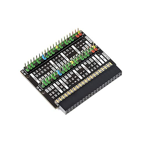 Coolwell Waveshare Raspberry Pi 400 GPIO Header Adapter, Header Expansion, 2X 40PIN Header Module HAT