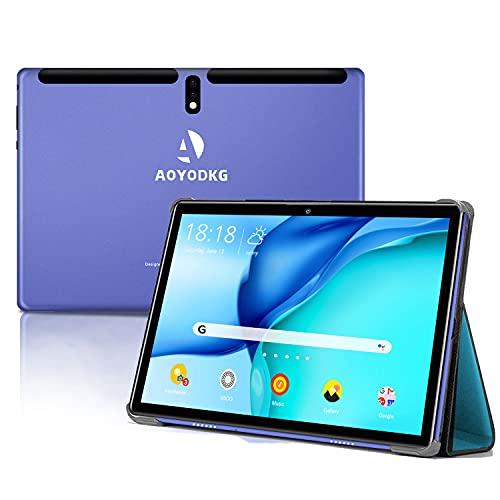 Tablet 10 Pulgadas Android 9 Pie 4G LTE Call 4GB RAM +64GB ROM Tableta- Certificación Google GMS- Quad Core 8000mAh 8MP Ultrar-Rápido Tablets Type-C Dual SIM / WiFi /Bluetooth/ OTG/GPS/Netfilix (azul)
