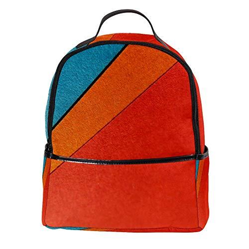 TIZORAX Rood Oranje Blauw en Geel Behang Laptop Rugzak Casual Schouder Daypack voor Student School Tas Handtas - Lichtgewicht