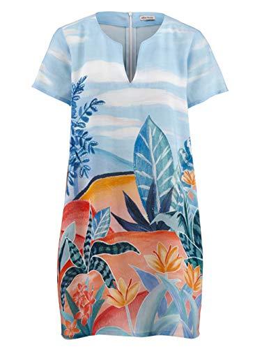 Alba Moda Strandkleid mit sommerlichem Druck blau-bunt