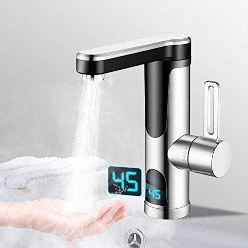 DSFGHE Instant Warmwasserhahn Digitalanzeige Tankless Elektro-Wasserhahn Küche Instant Warmwasserhahn Warmwasserbereiter Warmwasserbereitung,Underwater