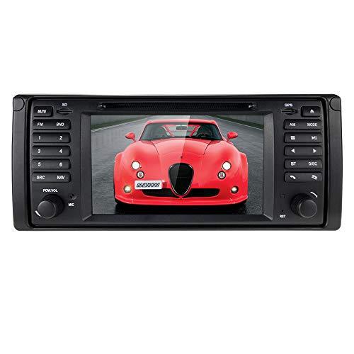 hizpo Android 10 4G+64G 7 Zoll 1 Din Autoradio GPS Navi DVD Player Passend für BMW 5er E39 BMW X5 E53 M5 7er E38 Unterstützt Bluetooth DSP Musik Radio Lenkradsteuerung WiFi 4G