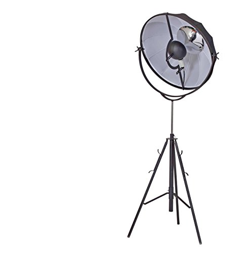 Benjara, Black Benzara BM191483 Adjustable Metal Floor Lamp with Round Fabric Shade, Small