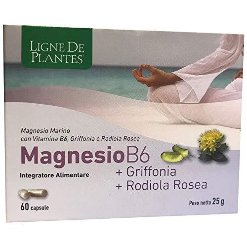 MAGNESIO B6 + GRIFFONIA + RODIOLA ROSEA INTEGRATORE ALIMENTARE 60 CPS