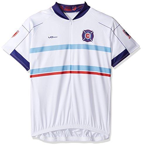 VOmax MLS Chicago Fire Damen Fahrradtrikot, kurzärmelig, Größe S, Weiß