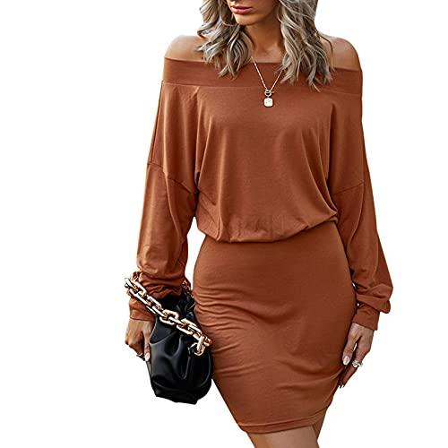 Vestido De Falda Corta con Base De Color SóLido Informal