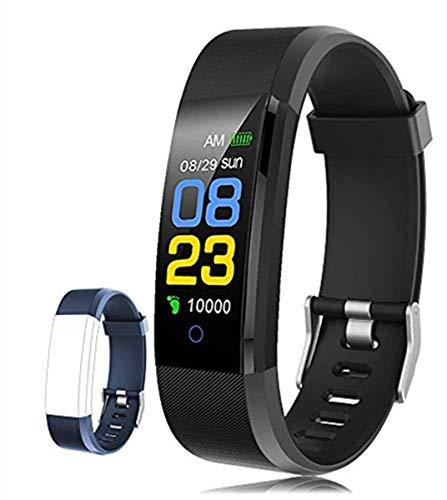 F-FISH Fitness Tracker, Activity Tracker Watch con Monitor de Ritmo cardíaco, Banda Inteligente con Monitor de presión Arterial, Monitor de sueño, podómetro para niños, Mujeres y Hombres (Negro)