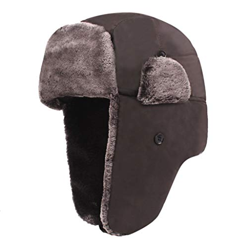 Luoluoluo muts heren dames skimuts camouflage verdikte wintermuts met oorbescherming fleece unisex winter beanie warme hoed in de open lucht vrouwen mannen winddichte hoed