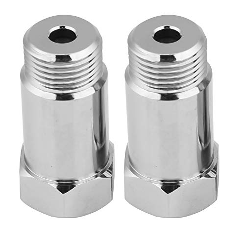 2 Stück Universal O2 Sauerstoff-Sensor Abstandshalter Adapter Extender Isolator für Auspuffanlagen mit M18 x 1,5 Sensorlöchern