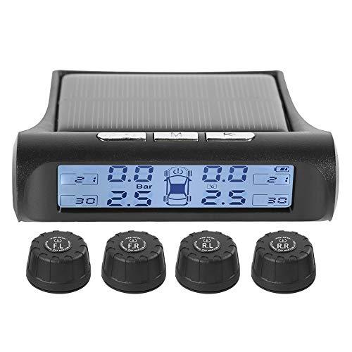 UNIhappy Sistema de monitor de presión de neumáticos TPMS para coche (sensor externo)