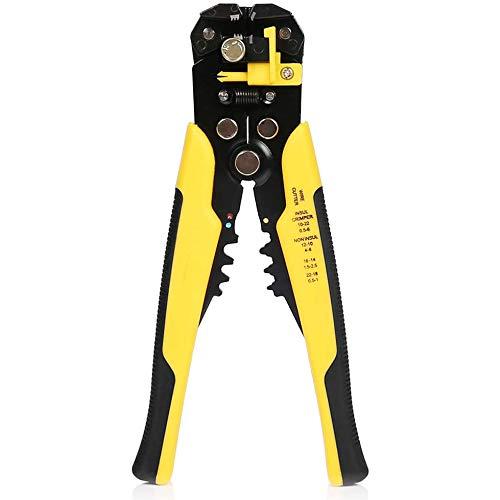 zonpor Alicate Pelacables Automático, cortador de cables multifunción 5 en 1, herramientas para prensar cables, herramienta de bricolaje con trinquete automático, 0,5-6 mm / 10-24 AWG