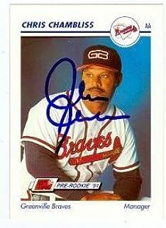 Chris Chambliss autographed baseball card (Atlanta Braves Greenville Braves) 1991 Impel #224 - Autographed Baseball Cards
