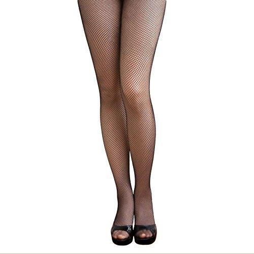 Oblique-Unique® Sexy Strumpfhose -halterlos- Overknee Strümpfe - Party Kostüm Fasching Karneval (Netz schwarz)