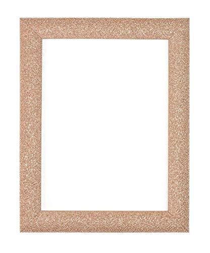 Stardust-Bilderrahmen, Poster-Rahmen, fertig zum Aufhängen oder Aufstellen, mit MDF-Rückwand, rose gold, 5