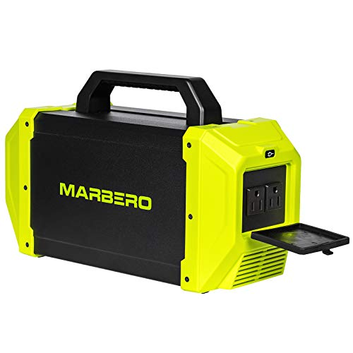 450W Portable Power Station, 532Wh Solar Generator Backup Battery with Pure Sine Wave 2 AC Outlet...