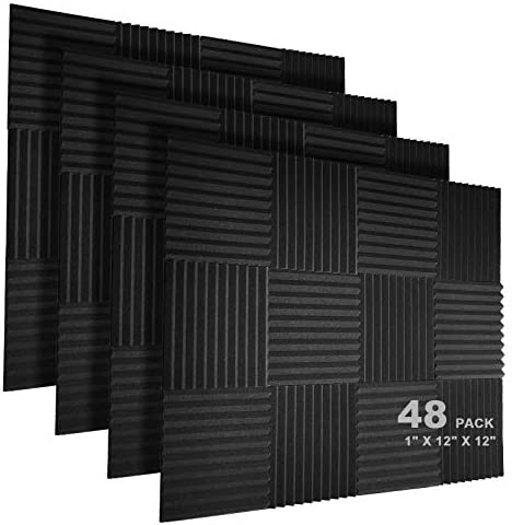 JBER 48 Pack Acoustic Foam Panels 1 X 12 X 12 Studio Soundproofing Wedges Fire Resistant Sound product image