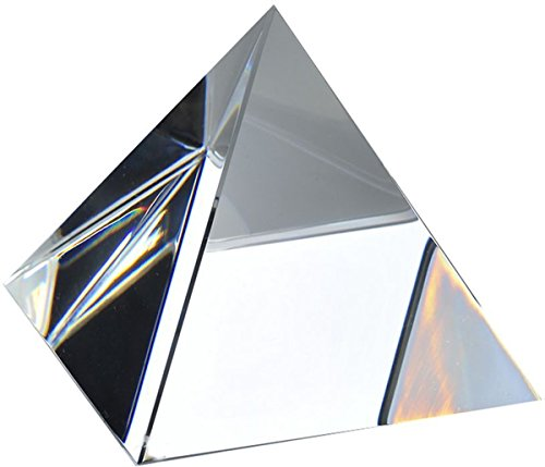 Amlong Crystal 4 inch Clear Pyramid with Gift Box