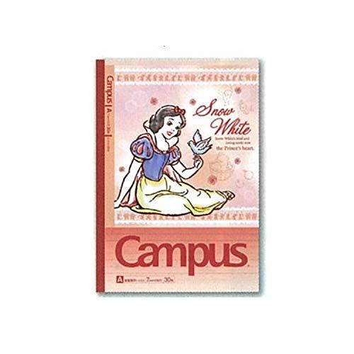 サンスター文具 デザインコレクション ディズニー キャンパスノート ドット入りA罫 5冊パック プリンセス