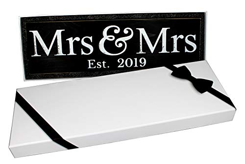 Mrs & Mrs Wedding Sign