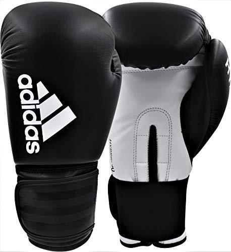 adidas Herren Hybrid 50 Boxhandschuhe, schwarz/weiß, 12 oz