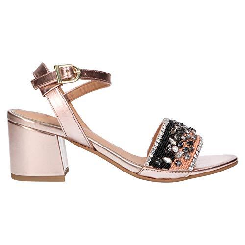 Sandalias de Mujer GIOSEPPO en Piel Rosa 49037-ROSA.