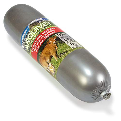 Arquivet Salchicha Ternera con verduras - comida perros - 500 g