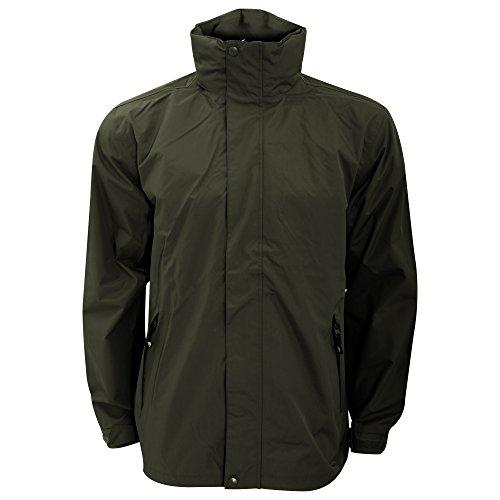 Trespass Mens Boncarbo Hooded Waterproof and Windproof Jacket (XL) (Khaki)