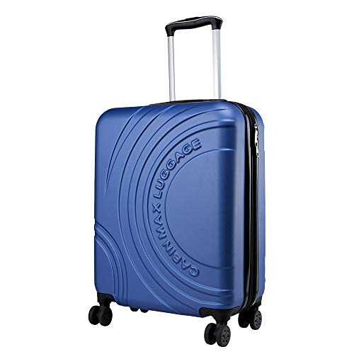Cabin Max Velocity Expandable Cabin Suitcase | Hand Luggage for Easyjet, BA, Jet 2, Ryanair Cabin Bags 55 x 40 x 20(Midnight Blue)