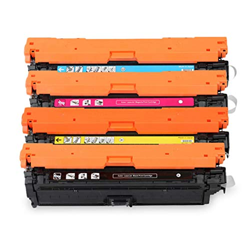 Adecuado para HPCE250A Cartucho de tóner compatible con color HPCP3525 / 3525dn / CM3530 / 3530FS / 504A / CE250A Cartucho de tóner de impresora 4 colores 4colors