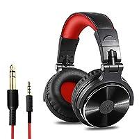 専用ヘッドセット6.5 / 3.5mmヘッドマウントドラム、電子オルガン、ギター、モニタリング機器、マイク付き汎用、有線ステレオゲームヘッドセット (Color : Red)