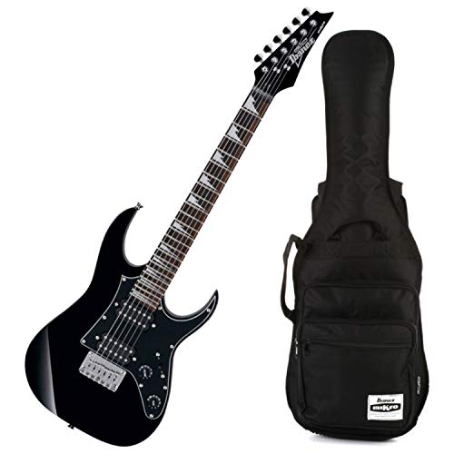 Ibanez GRGM21 GRG Mikro E-Gitarre Junior Mini (Black Night) mit Ibanez Tasche