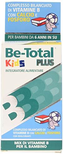 Be Total Kids Plus Integratore Alimentare Di Vitamine B, Calcio E Fosforo Per Supportare La Crescita Dei Bambini Da 6+, Senza Glutine E Lattosio*, 30 Compresse Masticabili