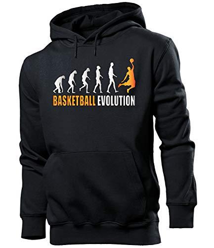 Golebros Basketball Evolution Fan Männer Herren Hoodie Pulli Kapuzen Pullover Sweatshirt Artikel, Herren Hoodie Schwarz Modell 527, L