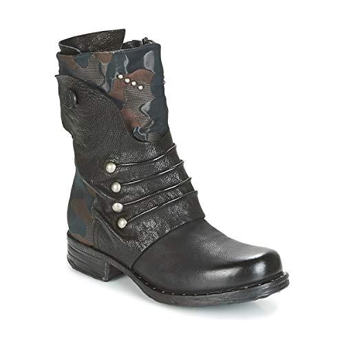 Airstep/A.S.98 Saintriv Botines/Low Boots Mujeres Negro/Chocolate - 40 - Botas De Caña Baja Shoes