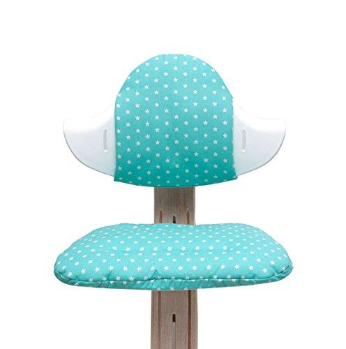 Blausberg Baby - Sitzkissen Set für Nomi Hochstuhl von Evomove - Türkis Stern