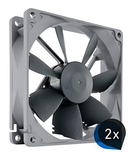 Noctua Bundle: 2x NF-B9 redux-1600, Ventilador de Alto Rendimiento, 3 Pines, 1600 RPM (92mm, Gris)