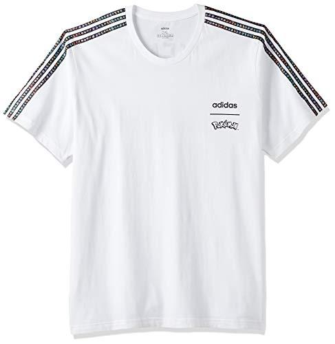 adidas T-Shirt pour Homme - 4062054810178 - Blanc/Noir - Taille L