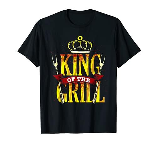 King Of The Grill BBQ Regalo Per Uomini Chef Di Barbecue Maglietta