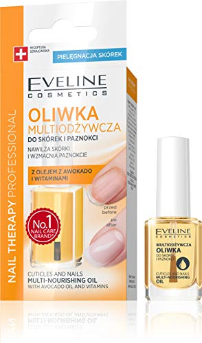 Eveline Cosmetics Cuticle and Nails Multi-Nourishing Oil with Avocado Oil & Vitamins