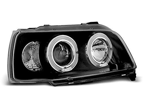 1 paar koplampen – Clio 90-95 Angel Eyes, zwart