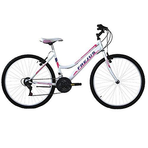 MASCIAGHI Bicicletta 26' Donna FREJUS MTB 18VEL Grip • Bianco/Fuxia