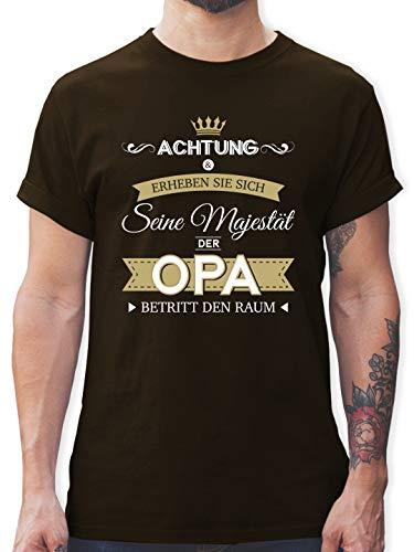 Opa - Seine Majestät der Opa - M - Braun - Tshirt Herren Vatertag - L190 - Tshirt Herren und Männer T-Shirts