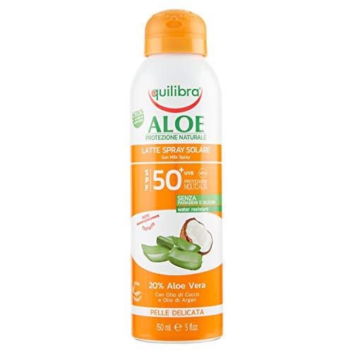 Equilibra Protector Solar, Spray Leche Solar Spf 50+ Con Aloe Vera, Aceite...