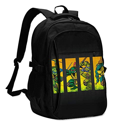 Teenage Mutant Ninja Turtles Laptop Backpack Anti Theft Water Resistant Durable Computer Bag USB Charging Port Fits 15.6 Inch Laptop and Notebook College School Business Travel