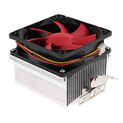 SDENSHI 12V 2500RAM Ventilador de enfriamiento silencioso de 8 cm para CPU AMD
