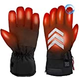 Rechargeable Heated Gloves,Electric Cycling Gloves for Men Women Battery Powered Touchscreen Windproof Winter,Thermal Electric Gloves Hand Warmer for Arthritis Motorcycle Hiking Skiing Hunting Fishing