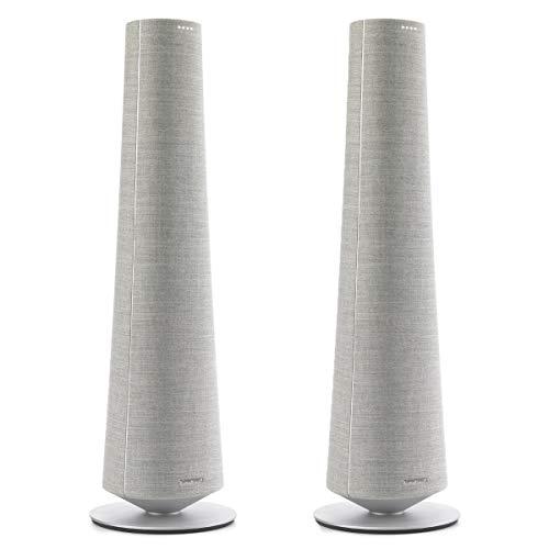 Harman Kardon Citation Tower freistehende kabellose Lautsprecher, Grau, 1 Paar