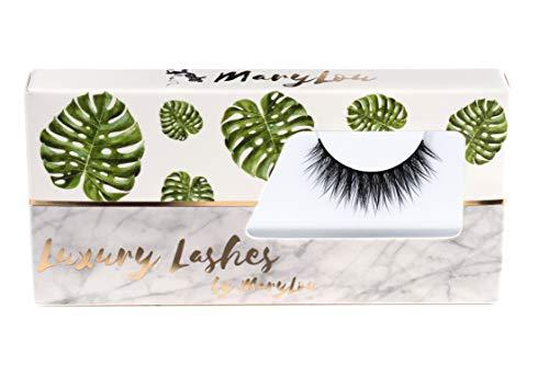 MaryLou Beauty Luxury Lashes - künstliche Wimpern für einen natürlichen voluminösen 3D Look - künstliche Premium Wimpern in schwarz inklusive edler Aufbewahrung (All Natural)